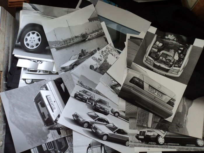 60 x original Mercedes-Benz factory photos and negatives - 1990s