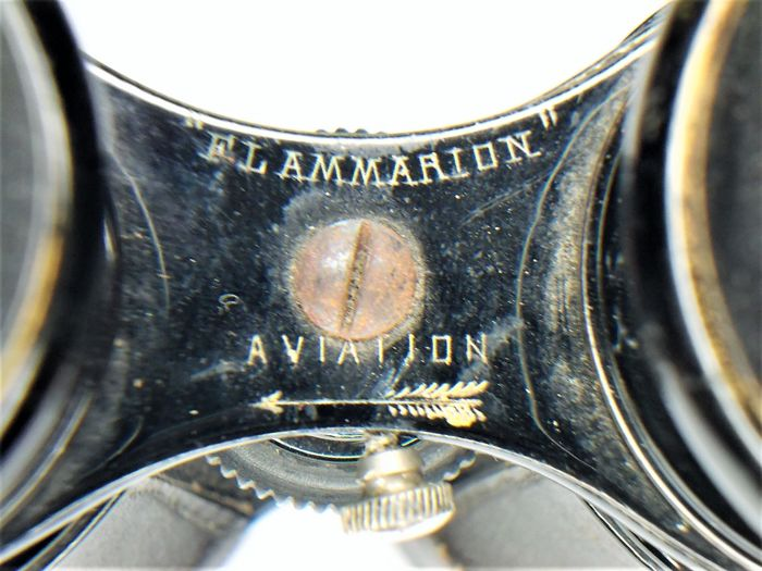 "Antique aviation binoculars in original bag ""Flammarion Aviation"""