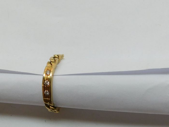 18 kt yellow gold ring, 5.1 g, interior: 19.5 mm