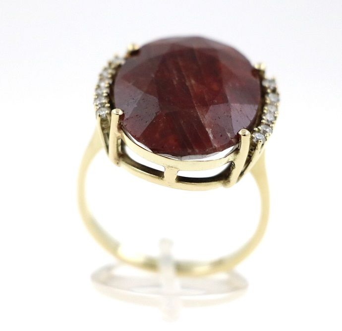 Ring - Gold - Diamond and Ruby