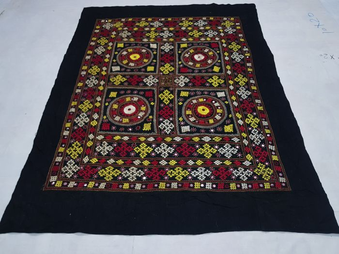 Kashmiri Bed Spread hand made 212 cm x 160 cm.