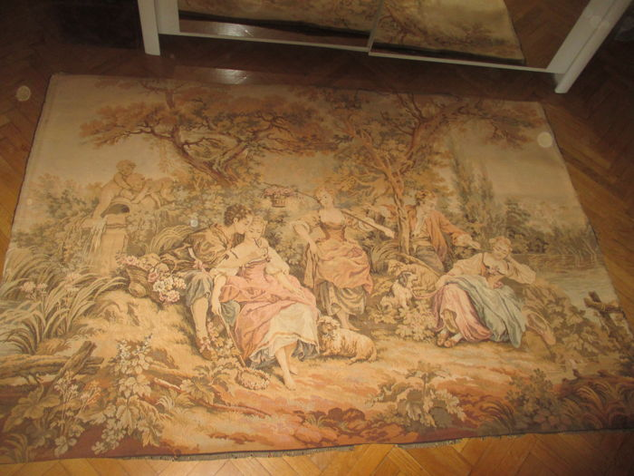 Old large numbered wall tapestry