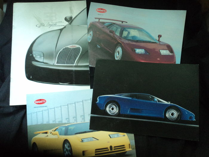 4 x Bugatti catalogues and brochures - 1990s