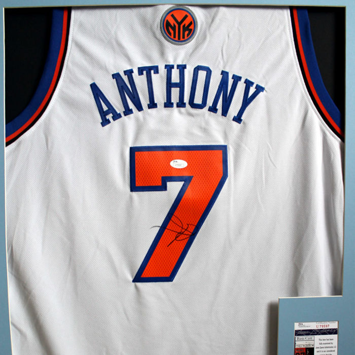 Carmelo Anthony - Signed Jersey New York Knicks #7 - COA JSA