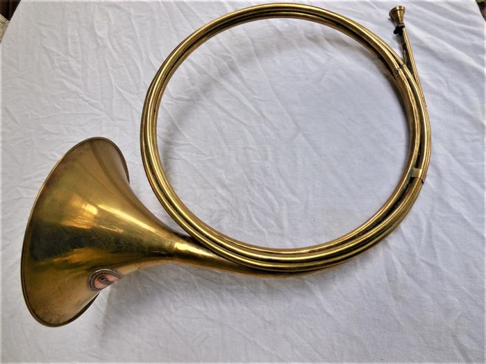 Large old bugle/par force horn with Chambord brand/logo