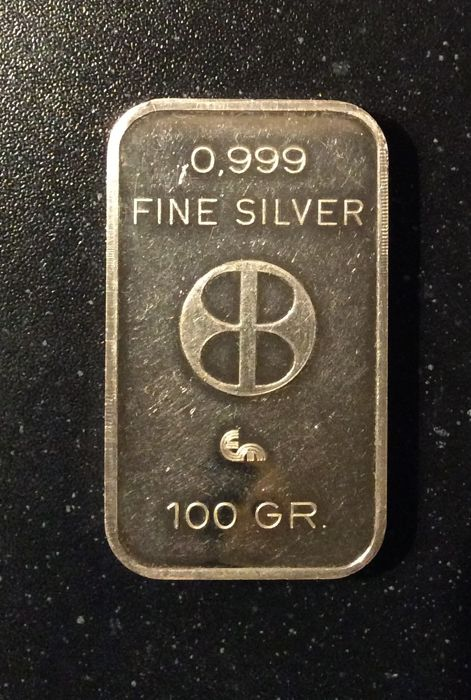 KBC - 100 grams - 999/1000 - Minted