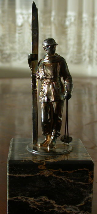 WMF - skier - metal figure, silver-plated, I/0