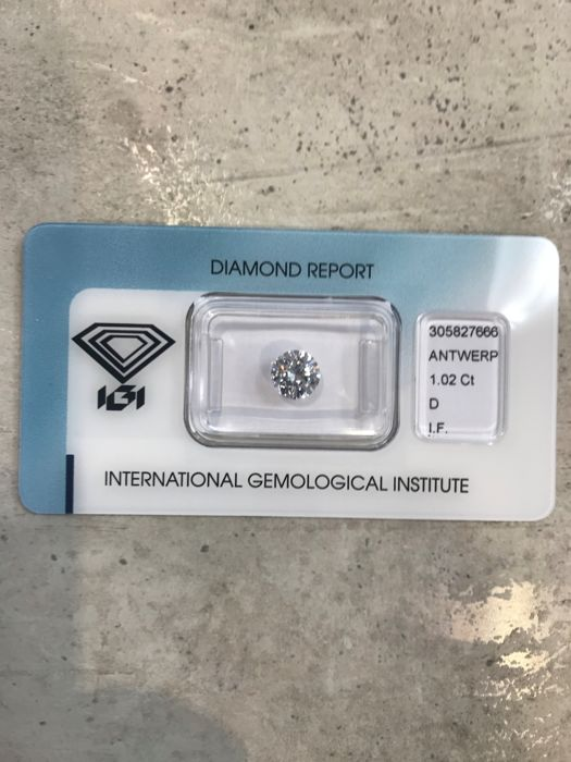 Round Brilliant Diamond 1.02 ct total D IF IGI  - Low Reserve Price - #392