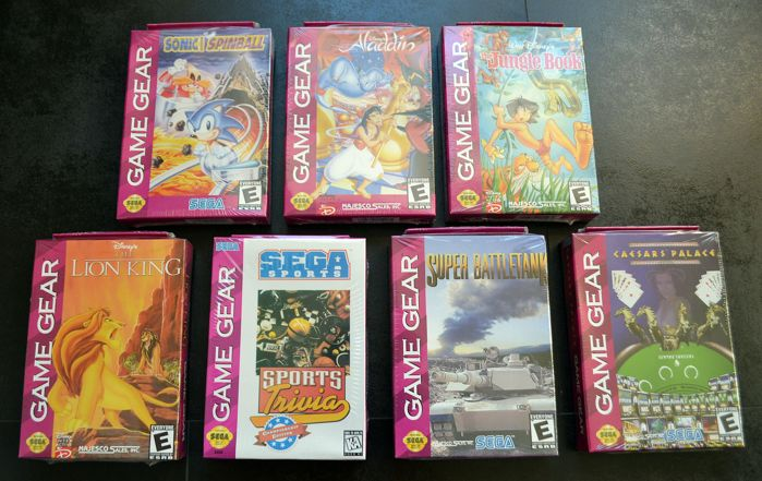 7 Brand new games SEGA Game Gear some rares like  Aladdin, The Lion King and more
