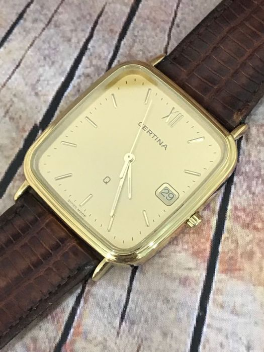 Certina - 18K Gold Quartz - 156.9187.68 - Heren - 1970-1979