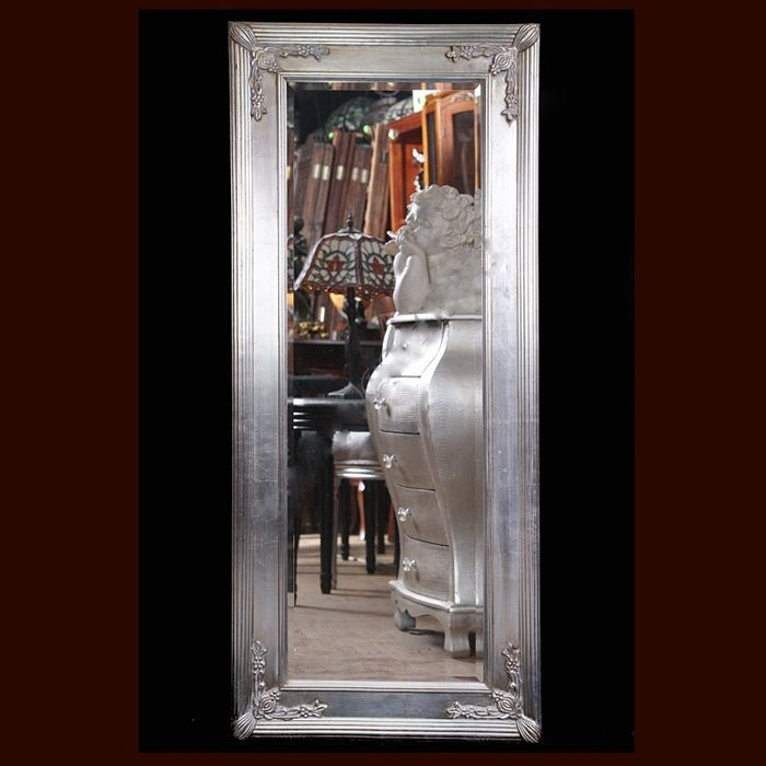 Large mirror in a classical, wooden frame - 140 x 60 cm