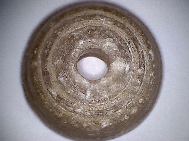 A rare , beautiful , natural colour sopa stone  trade bead  - 29 X 16 mm