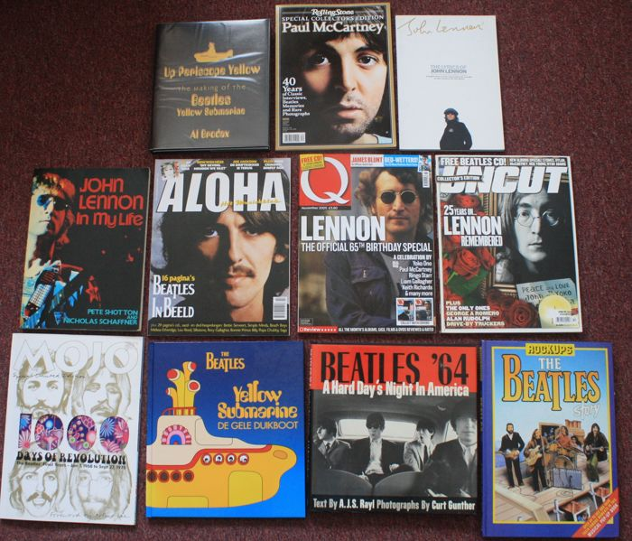 The Beatles; lot with 11 books & magazines - 1983/2013