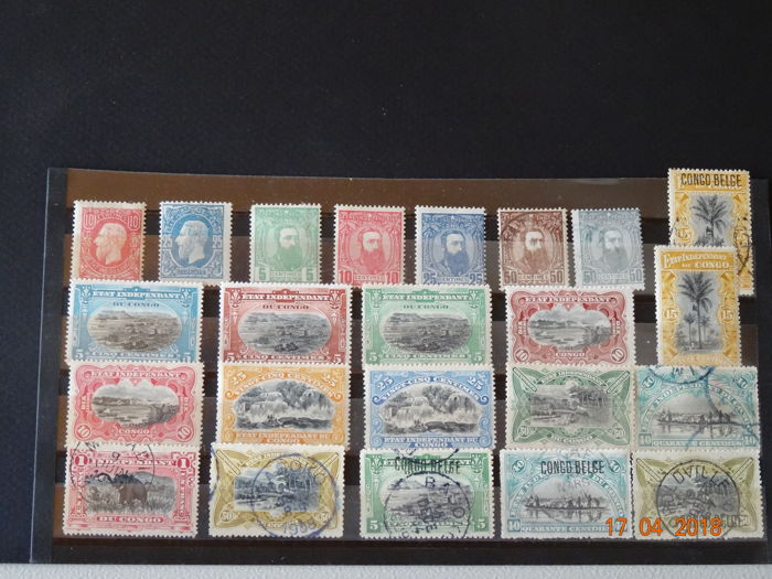 Congo Free State - Selection of stamps