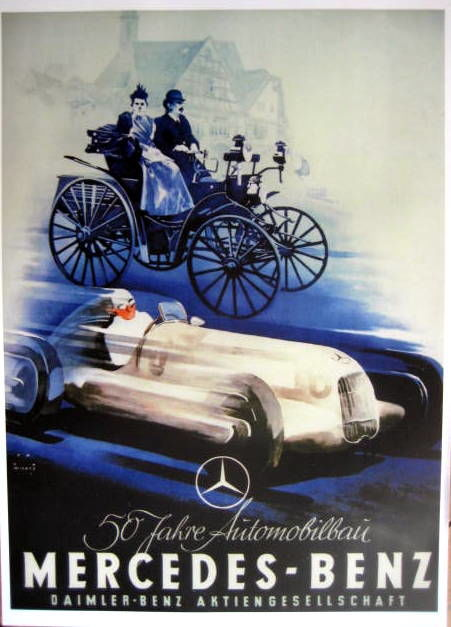 Decoratief object - Mercedes-Benz 50 year Benz Patent - Limited 50 pcs - 1936-1886 (1 items)