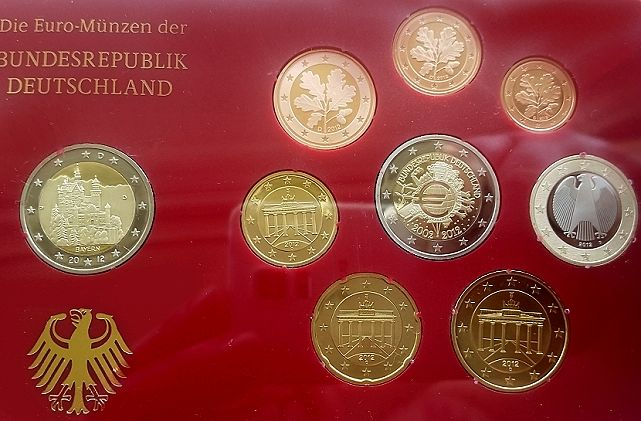 Allemagne Euro 2012 A D F G J Inclusief 2 Euro Bayern Catawiki