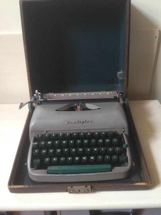 Typewriter Remington portable from the 1950s