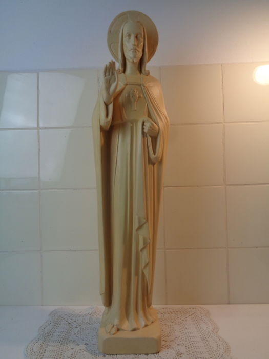 Art Deco marked Christ statue - GLV Netherlands - 1900