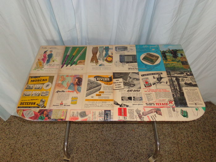 1970 Trolley Bar with Artistic Composition Based in Advertisements from 1950/60 , By Bam - Portugal