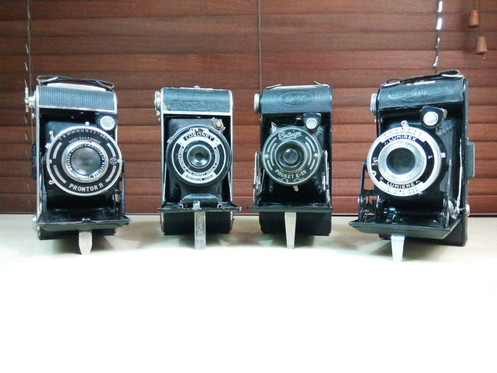 Lot of four cameras: LUMIREX LUMIERE, CORONET, PRONTOR II, ENSIGN POCKET E - 20