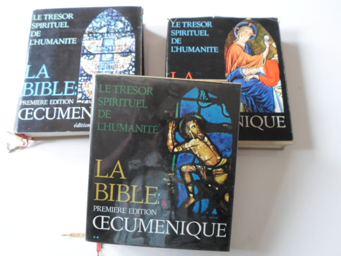 'La Sainte Bible', First Ecumenical Edition, Complete in 3 volumes - 1965