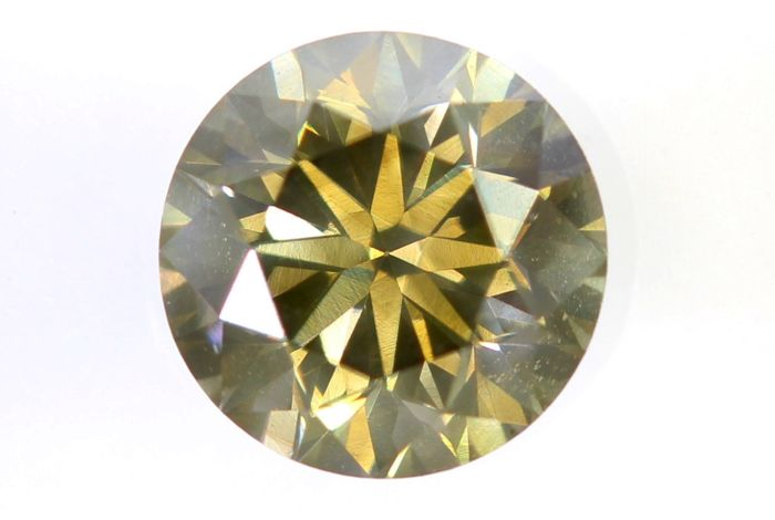 AIG Sealed Diamant - 0.82 ct - Fancy Yellowish Greenish Brown - SI1