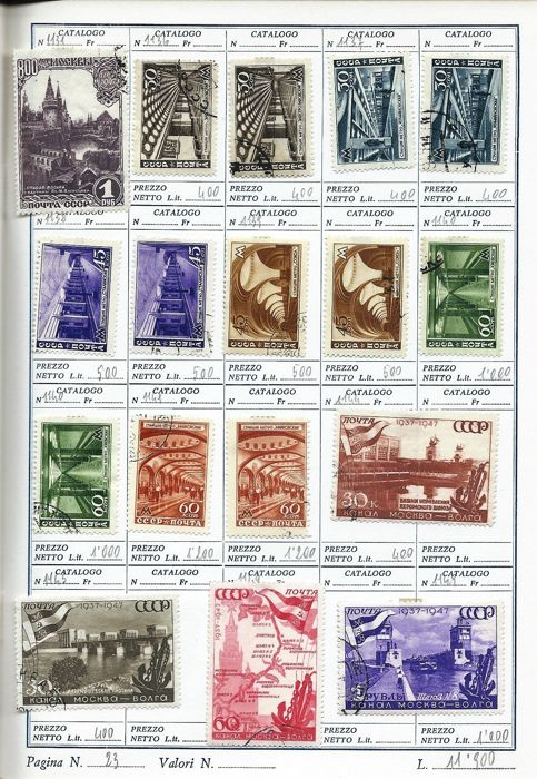 Russia – Collection of stamps from Imperial Russia, USSR, and other