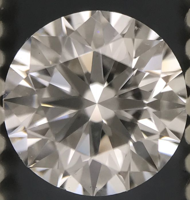 Round Brilliant 0.90ct   D VS2 GIA- original image -10x #2742
