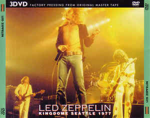 Led Zeppelin-Kingdome Seattle 1977  3Dvd