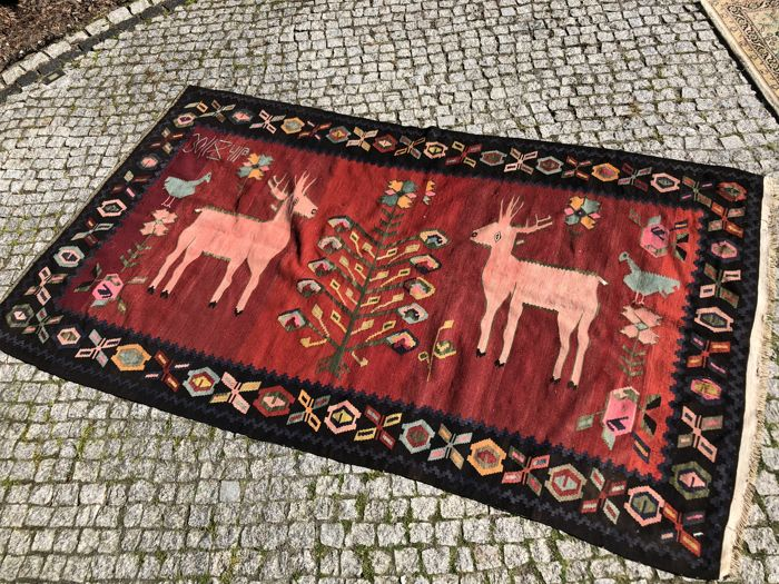 Old Armenia kilim with signature 240x136 cm