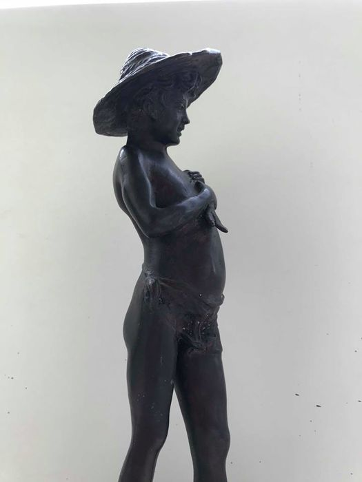 "Italy, 20th century - unknown artist - bronze sculpture ""The Fisherman"""