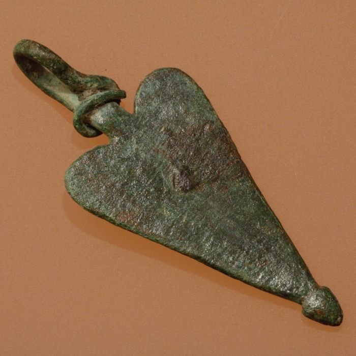 The Vikings / Early Medieval Bronze Pendant / Amulet - 49mm.