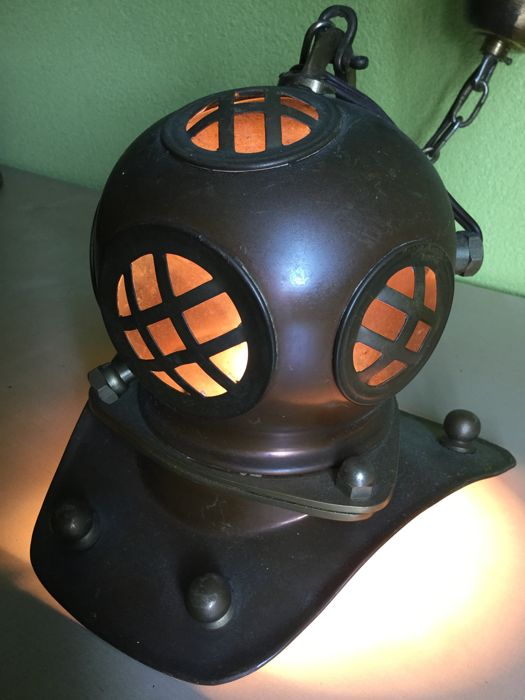 Three pieces - diving helmets with lighting and ceiling fixtures