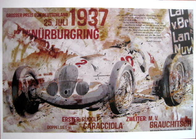 Decoratief object - German Grand Prix  Nürburgring - 1937 (1 items)