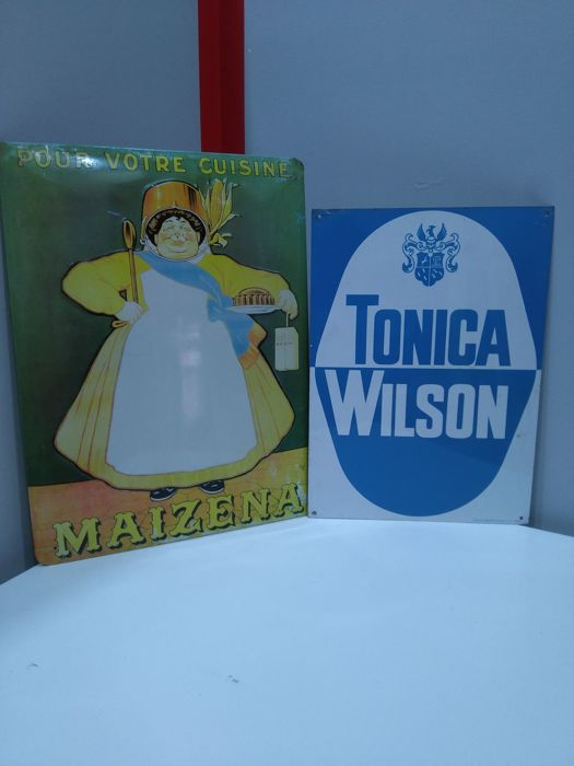 Two decorative signs of MAIZENA - TONIC WILSON 20th century