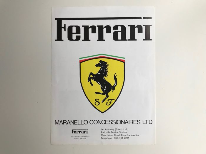 Ferrari Maranello Concessionaires Brochure UK specifications