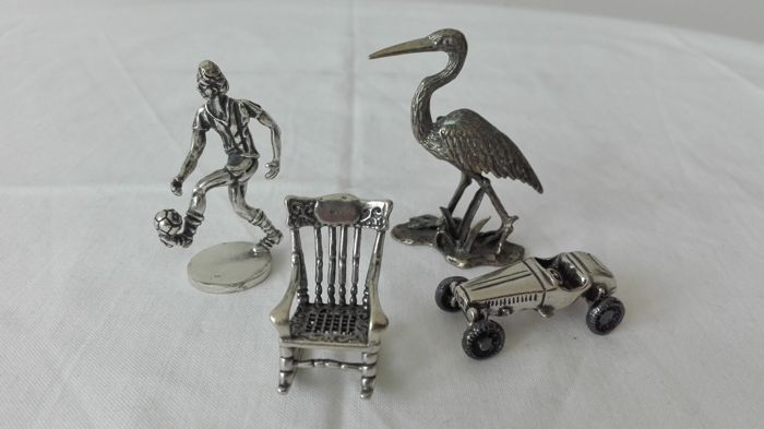 Miniatures in silver 800 - Italy, 20th century
