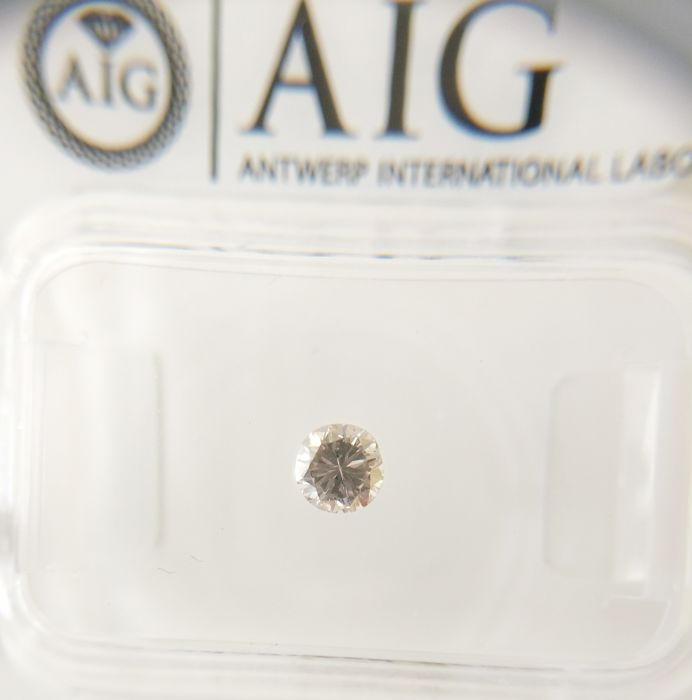 0.20 ct Round cut diamond N ( E.C.G. ) SI1  *** No Reserve ***