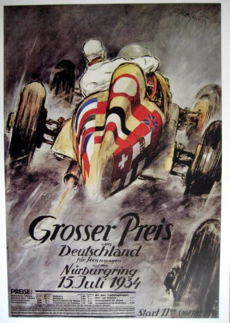 Decoratief object - German Grand Prix  Nürburgring - Limited 50 pcs - 1937 (1 items)