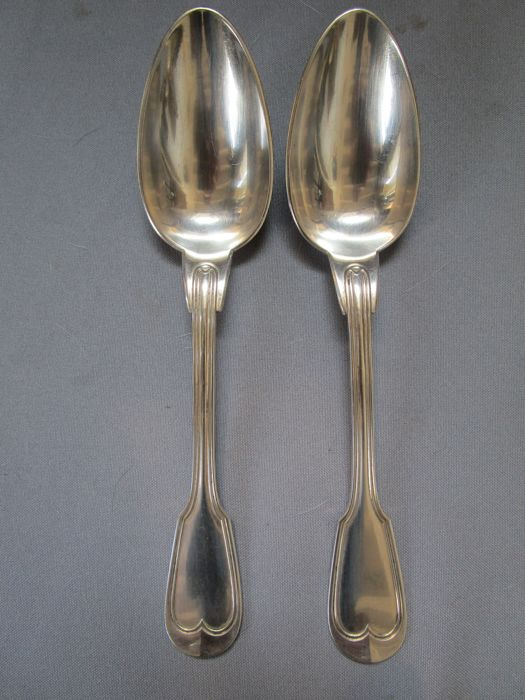 Christofle - antique cutlery - around 1900 - hallmarks on the back - 2 pieces - very good condition