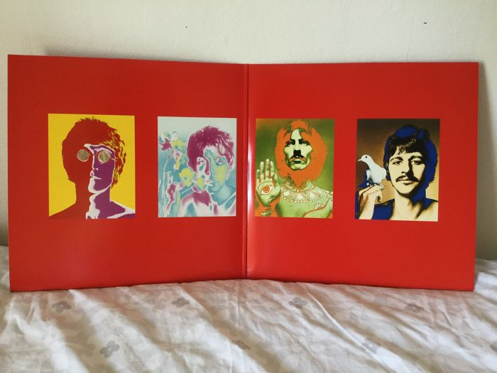 Beatles - 2 Album Set 1 One In Mint Never Used Condition   Plus A German Print Of Sgt Pepper In Used Condition.