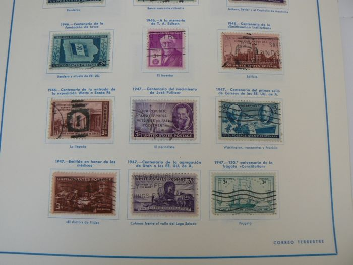 United States 1847/1982 - Collection of stamps, series and HB in ...