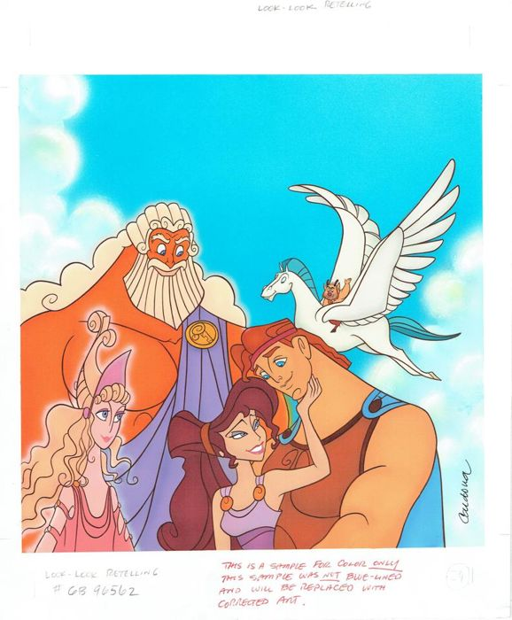 Hercules's Best Friends - Original Production Drawing - JM Cardona - (1990)