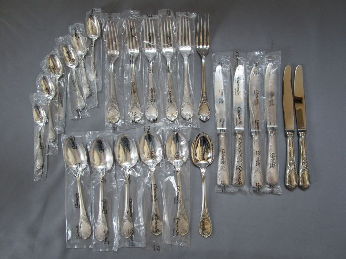 "Christofle - series ""Marly"" - dining cutlery - 6 people - 24 pieces - almost all parts in original bags - mint condition"
