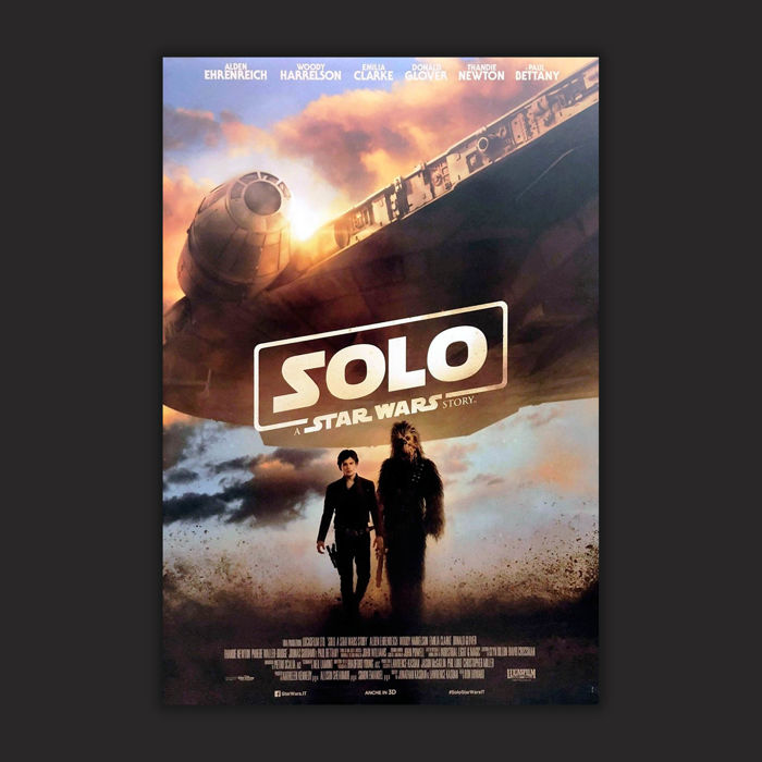 Solo A Star Wars Story Original Italian Movie Poster 2018 Size