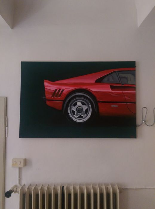 Ferrari 288 GTO 120x80 acrylic on canvas