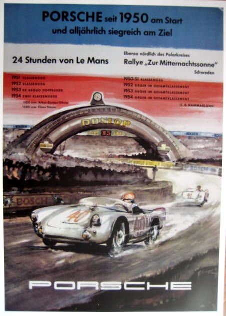 Decorative object - Porsche Victories Le Mans 1950/54 - Limited 50 Pcs - 1954 (1 items)