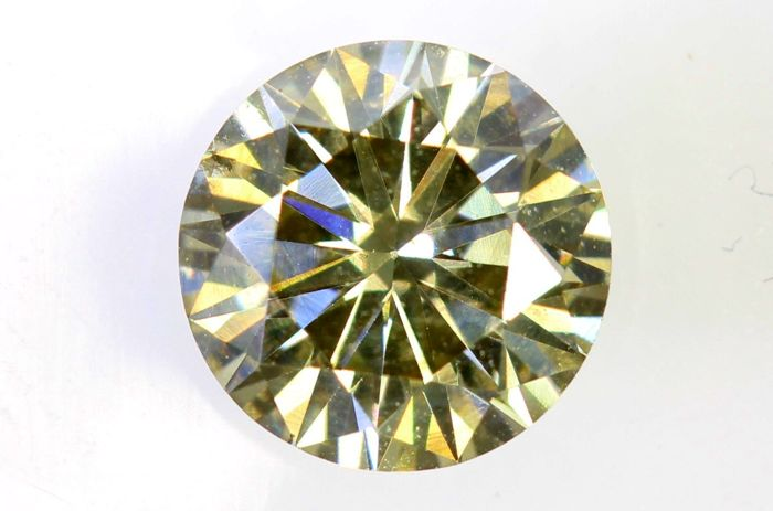 AIG Sealed Diamant - 0.93 ct - Fancy Light Yellowish Brown - SI1