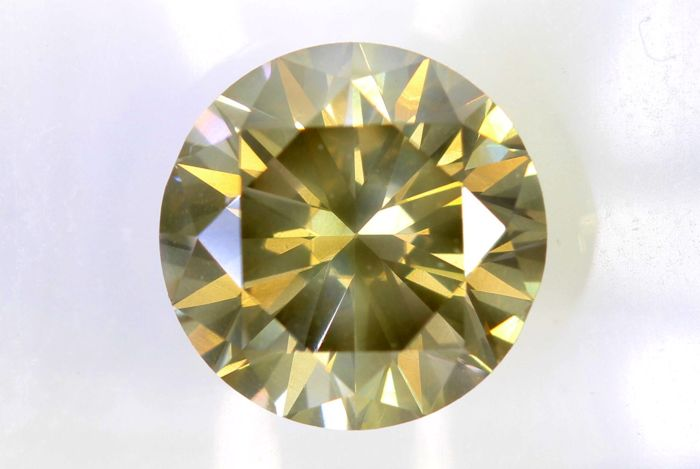 AIG Sealed Diamant - 2.01  ct - Fancy Light Yellowish Greenish Brown , SI2