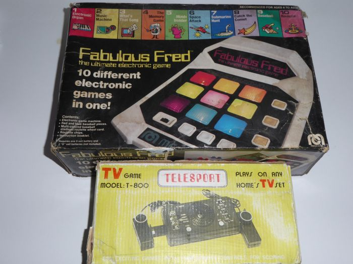 Fabulous Fred and Telesport 800 - Two vintage rare games